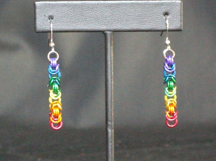 Rainbow Byzantine Earrings Available on TRADE through Trad. Commerce Exchange! http://tandcglobal.com