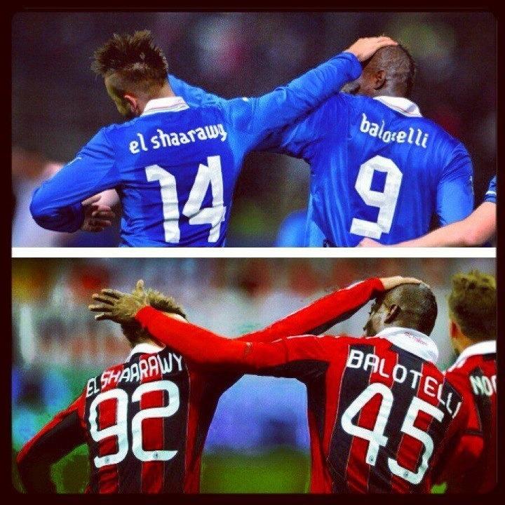 Balotelli & El Shaarawy !! Forza AcMilan !!