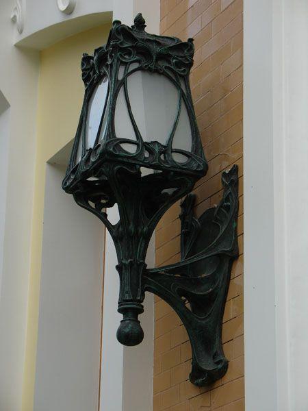 Садовые фонари. Фонарь Бра на кронштейне