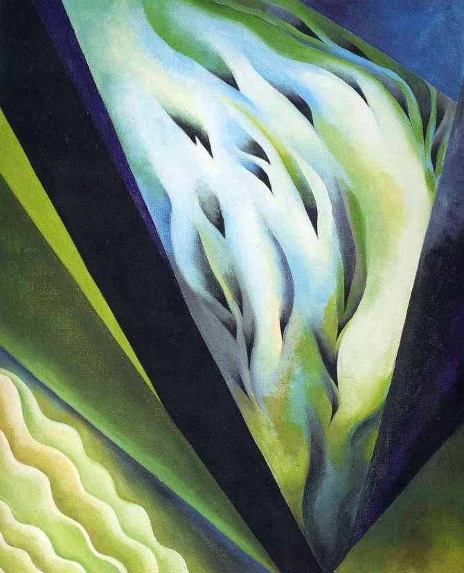 Georgia O'Keeffe-blue and green music-1919