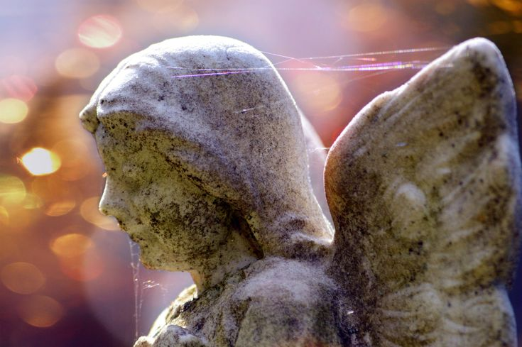Bokeh Angel; Lovely Bokeh and a Rainbow of Spiderwebs; Angel's Beauty; Angel Statue; Gift for Someone Special; Custom Orders Available by MissmacMemories on Etsy