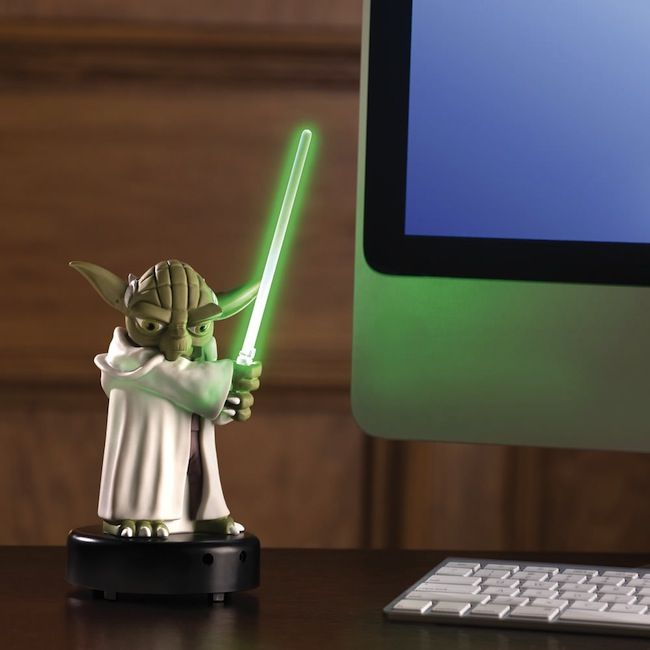 Motion activated talking Yoda.  The ultimate desk alarm.