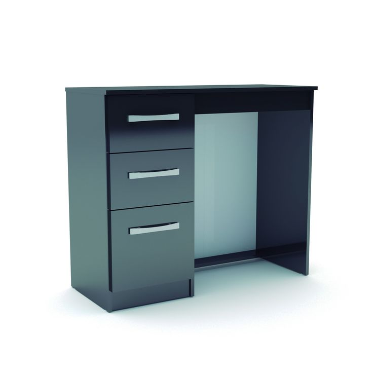 This Bonsoni MDP Lynx 3 Drawer Dressing Table Black is a beautiful piece of Dresssing table demostrating the Bonsonis unparallel quality and workmanship. This Lynx 3 Drawer Dressing Table Black comes in 1 boxes. This Bonsoni MDP Lynx 3 Drawer Dressing Table Black is made of MDP and the colour is Black.  http://www.bonsoni.com/bonsoni-mdp-lynx-3-drawer-dressing-table-black