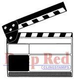 Movie+Clapper+Rubber+Stamp