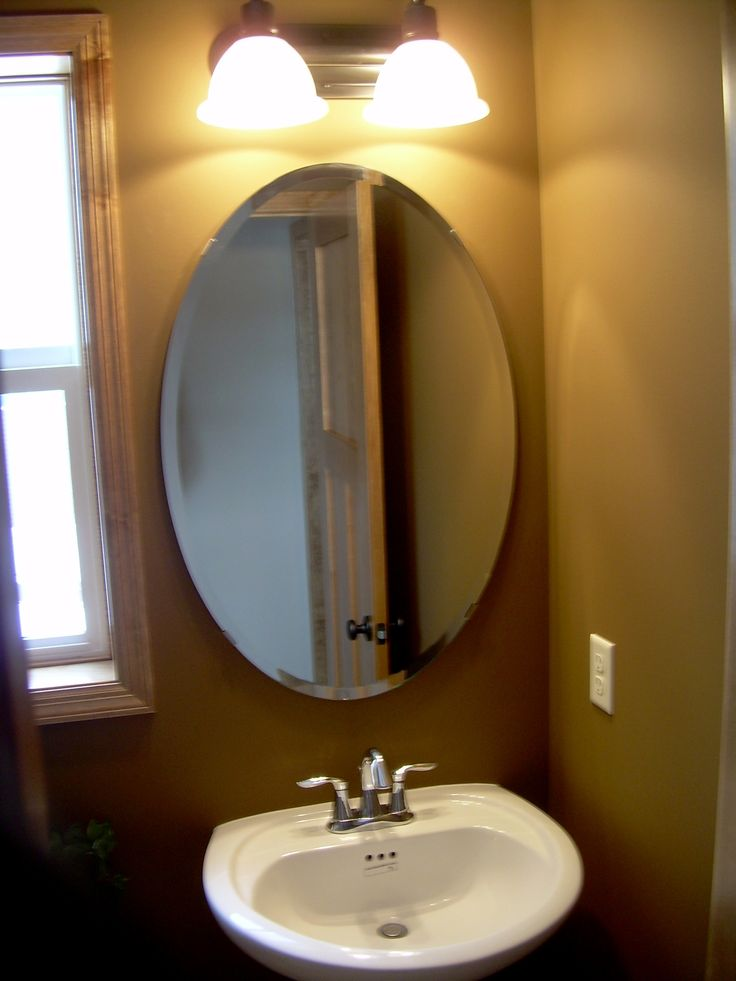 Best 25 Oval Bathroom Mirror Ideas On Pinterest Half Bath Remodel Small Bathroom Paint