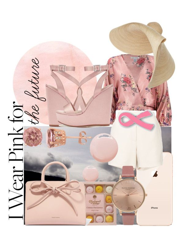 """Pink dream"" by bernadett-soos on Polyvore featuring Miss Selfridge, Sans Souci, Jacquemus, Elie Saab, Topshop, Olivia Burton and Mansur Gavriel"