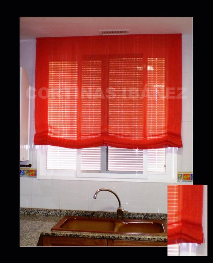 17 best images about cortinas en cocinas on pinterest - Estores de colores ...