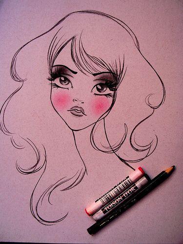 So cute!: My Sisters, Sketch, Girls, Fashion Models, Dark Eye, New Fashion, Big Eye, Fashion Illustrations, Drawing