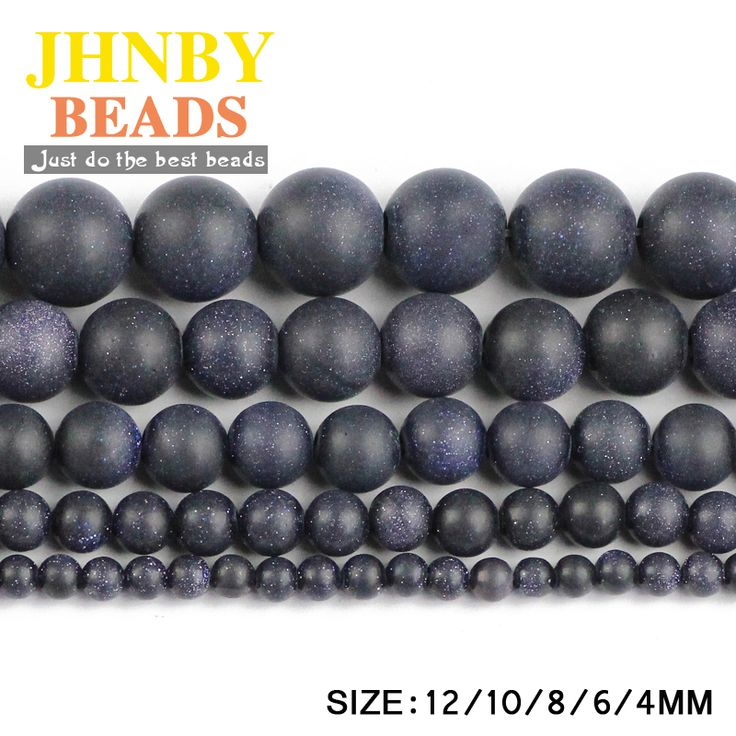 Aliexpress.com: Comprar JHNBY Mate Azul Arena granos Flojos Redondos de Piedra Natural de Alta calidad bola 4/6/8/10/12 MM pulsera hacer accesorios de Joyería DIY de accessories diy fiable proveedores en JHNBY (Johan's Beads) Store