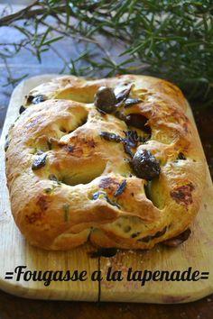Cuisine saine et durable : fougasse tapenade d'olives noires et herbes de Provence sur ©Kaderick en Kuizinn