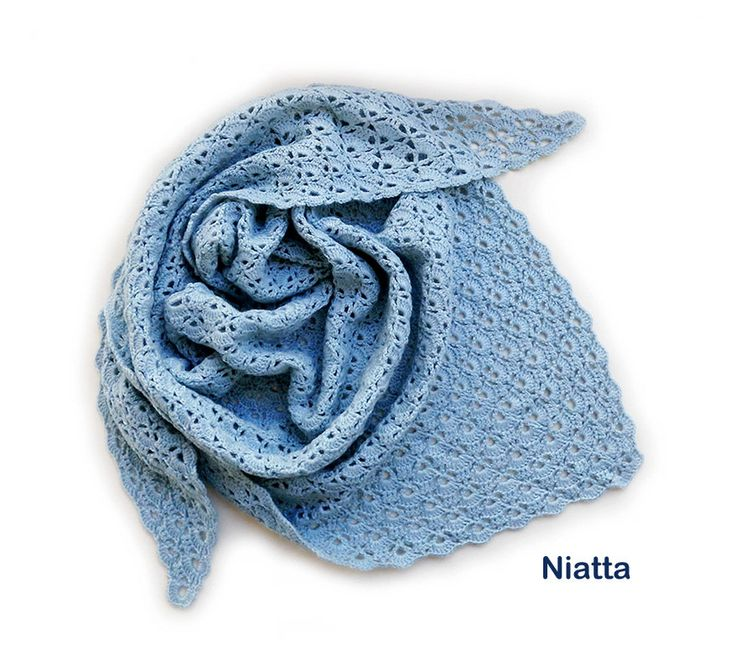 #crochet #Christmas #gift bridesmaids gift #scarf lace #handmade #shawl blue women shawl blue shawl sunday shawl triangular