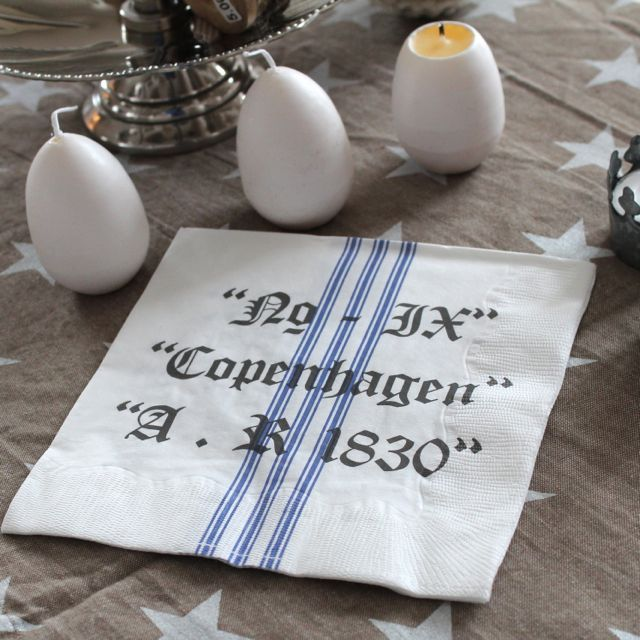Paper napkins with Copenhagen print ;o)  www.vintage-kompagniet.dk