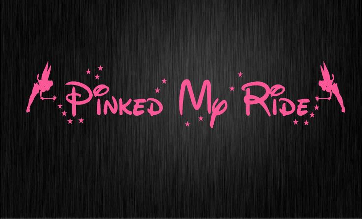 girly car decals and graphics | RIDE Car Sticker Decal GIRLY PINK PIMPED CUTE FAIRY GIRL COOL M40