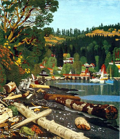 E.J. Hughes -View of Maple Bay