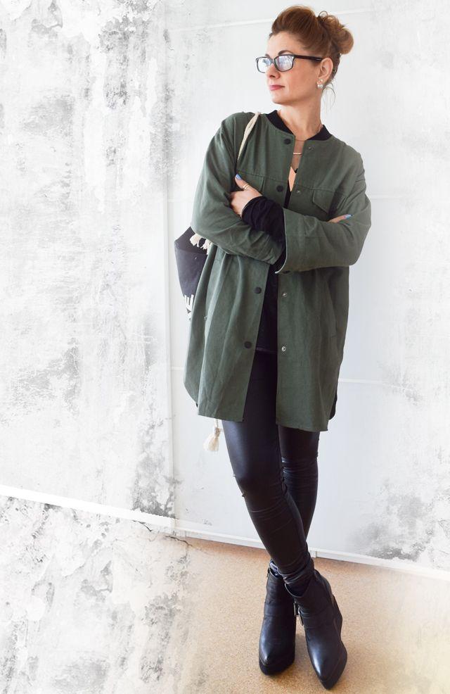 die EDELFABRIK | Mein Ü40 Blog für Mode und Beauty: Ein Military Look - Bluse, Jacke oder Longblazer?