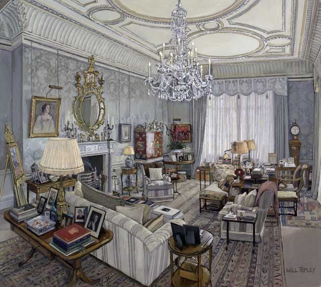 Will Topley: The Prince of Wales's sitting room. Clarence House. Robert Kime.