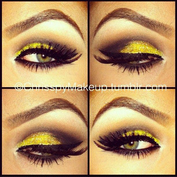 yellow glitter lips - photo #22