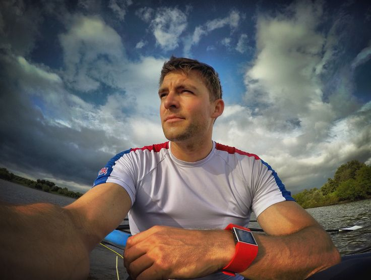Pete Reed GB Olympic gold rower and Fitbit Surge