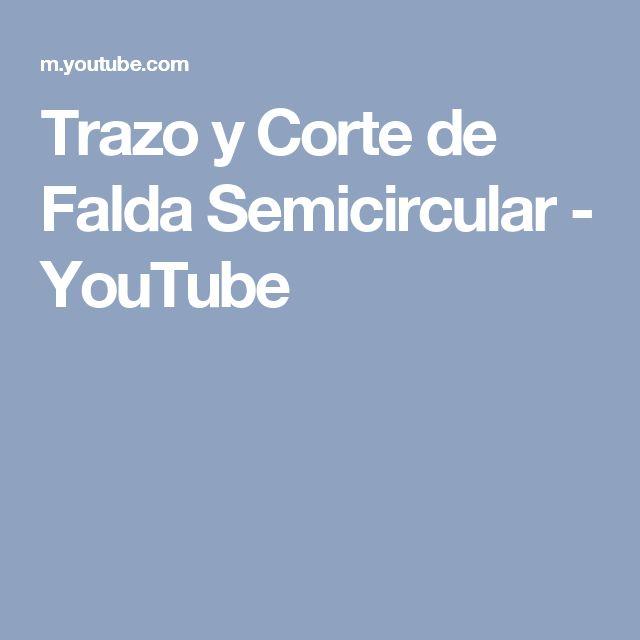 Trazo y Corte de Falda Semicircular - YouTube