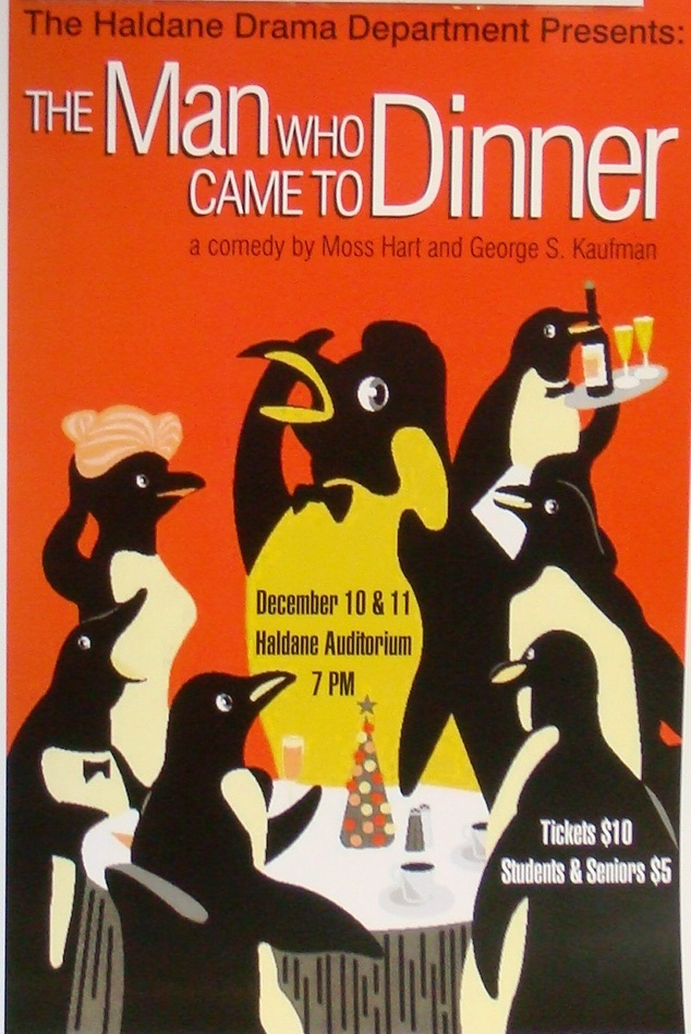 The Man Who Came To Dinner. #poster #penguins #theater