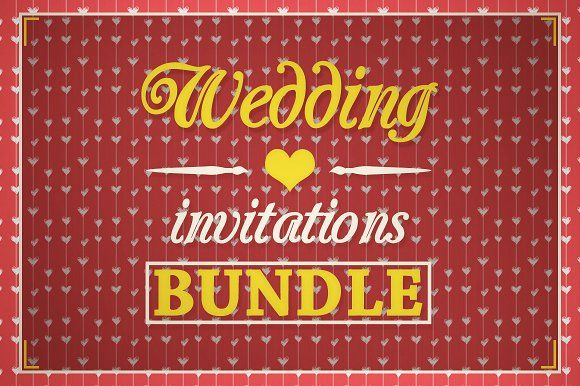 Wedding Invitations [BUNDLE] by VectorMedia on @creativemarket