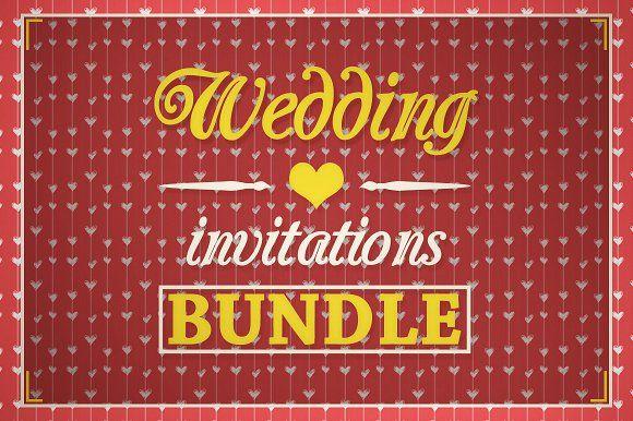 Wedding Invitations [BUNDLE] by VectorMedia on @creativemarket