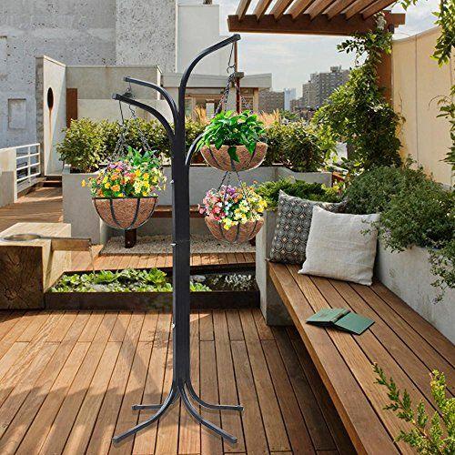From 24.99 Popamazing 4 Planter Basket Beautiful Arm Tree Cascade Hanging  Patio Stand Garden Plant Patio