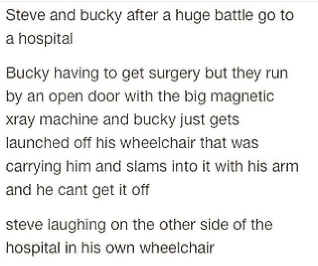 *snorts* I can imagine this happening!! Only Steve and Bucky!