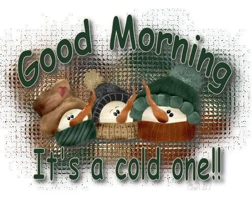Good Morning It's A Cold One winter morning cold good morning morning quotes good morning quotes