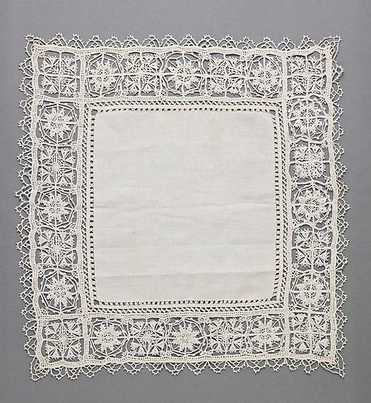 17th Century, Italian, Linen, Needle Lace. http://www.metmuseum.org/collections/search-the-collections/218793?img=2#fullscreen