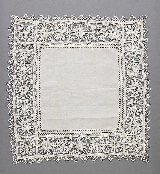 17th Century, Italian, Linen, Needle Lace.