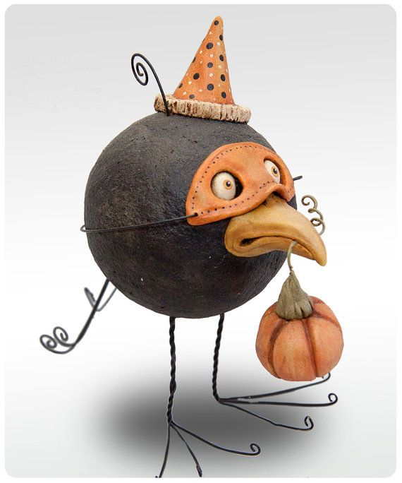 Halloween Crow Folk Art
