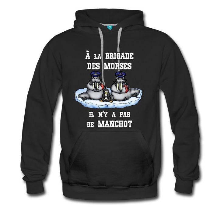 Le Best-seller du jour, À LA BRIGADE DES MORSES IL N'Y A PAS DE MANCHOT : https://shop.spreadshirt.fr/jeux-de-mots-francois-ville/police  #bête #moeurs #animal #policier #JeuxdeMots #banquise #MORSE #animaux #humour #police #drôle #morale #justice #otarie #geek #prison #citation #Antarctique #BRIGADE #gendarme #gendarmerie #prisonnier #pingouin #MANCHOT #tshirt #spreadshirt