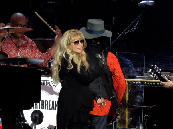 Stevie and Mike Campbell on stage during the BST Hyde Park… – Fleetwood Mac