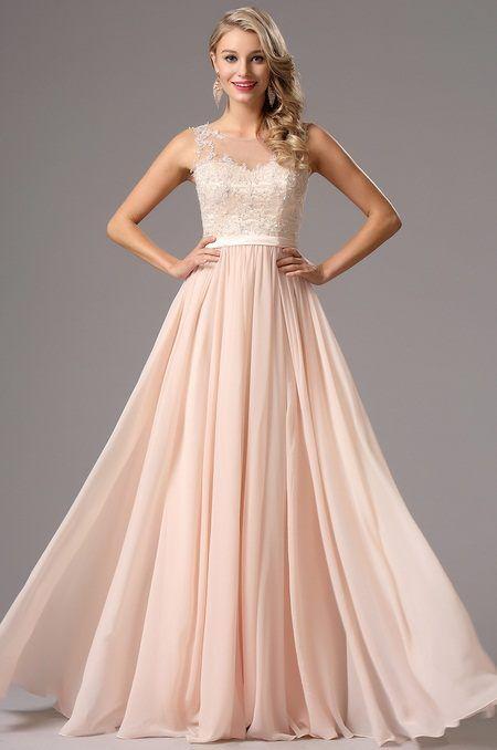 Jemné ružové šaty E00771