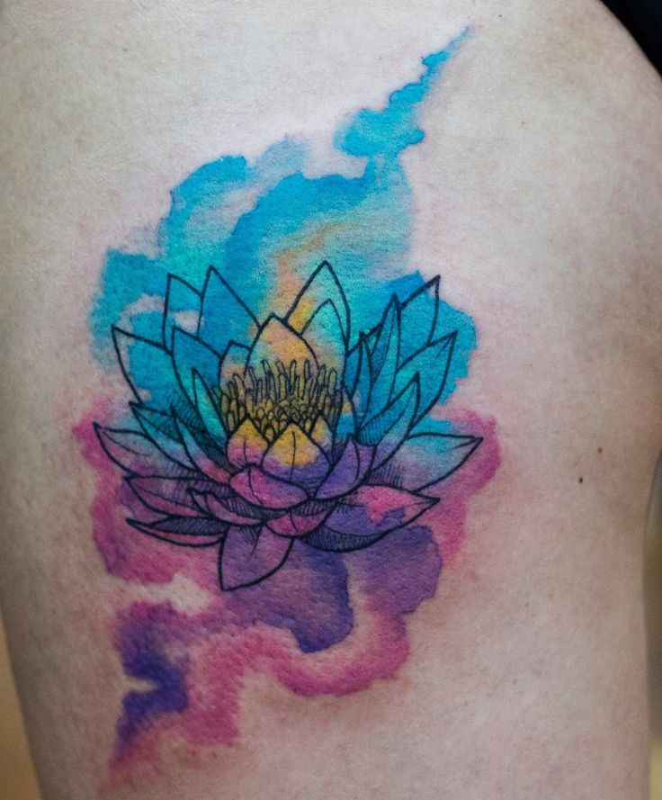 the 25 best watercolor lotus tattoo ideas on pinterest. Black Bedroom Furniture Sets. Home Design Ideas