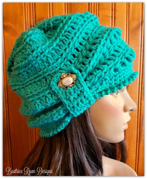 Wintertide Beanie - free crochet pattern at Beatrice Ryan Designs