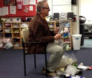 Gray Russell, Montclair Environmentalist, Takes His Trash To Preschool