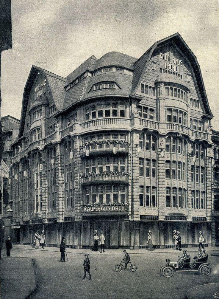 """Leipzig Kaufhaus Brühl, heute """"Blechbüchse"""" (1908)"""