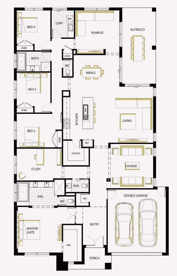 18 One Floor House Design Modern Modern House Floor Plans Home Design Floor Plans Floor Plan Design