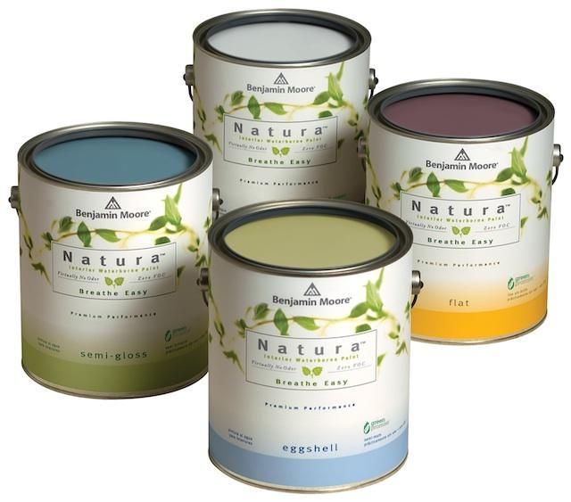 """Look for products that are low- or no-VOC in both the paint *and* the colorant."" Benjamin Moore's Natura Zero-VOC Interior Paint"
