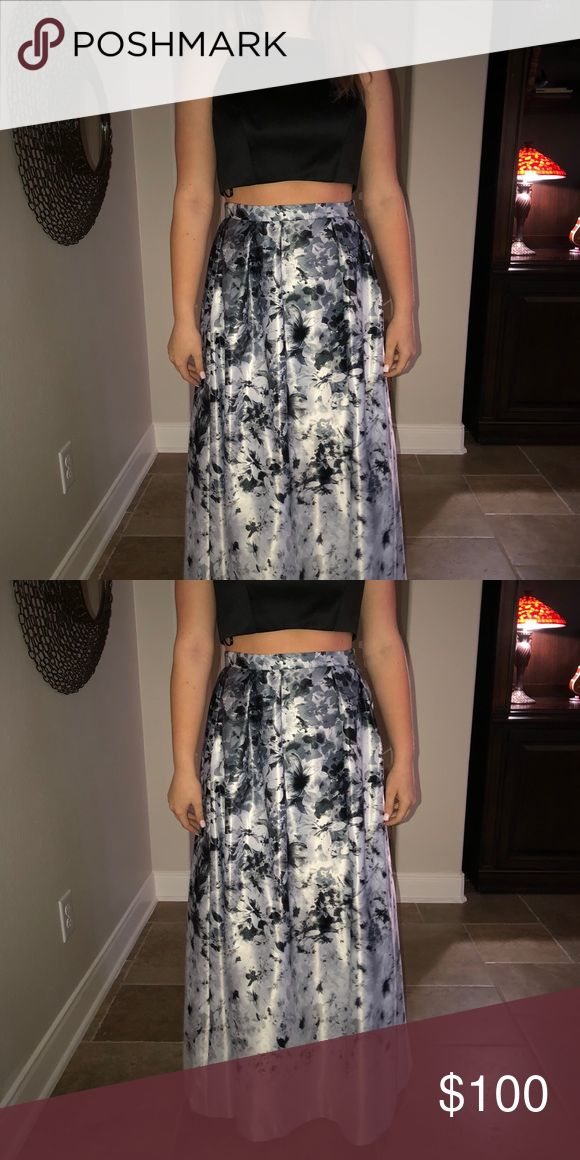 PETITE Two-Piece Black and Floral Dress Never worn!! Brand new!! With tags Dresses Prom