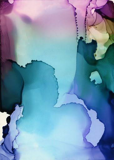 Fiesta Gardens by Andrea Pramuk #ink #claybord #mixedmedia #abstraction #painting #art