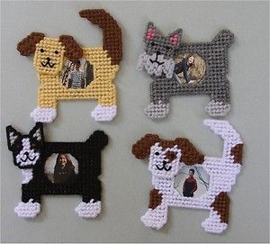 Free Plastic Canvas Magnet Patterns | Dog Picture Frames Magnets Plastic Canvas Pattern | eBay