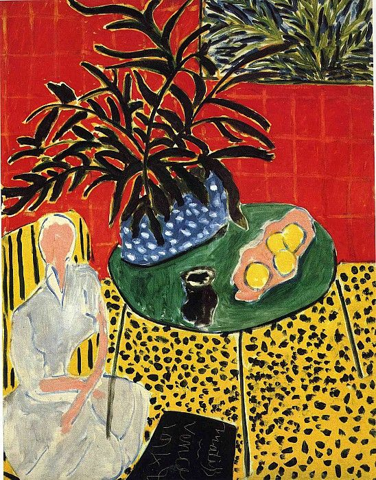 Интерьер с черным папоротником, 1948. Анри Матисс