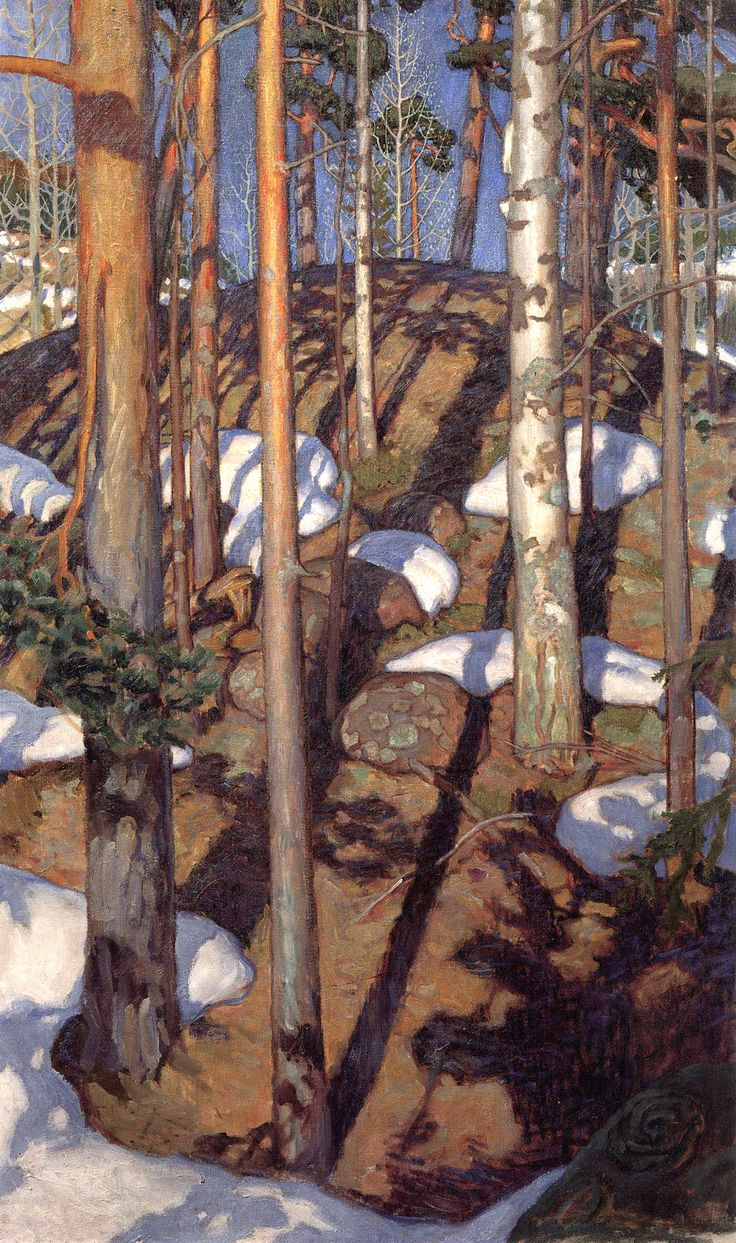 bofransson: Spring at Kalela Akseli Gallen-Kallela - 1900 1065 x 1800