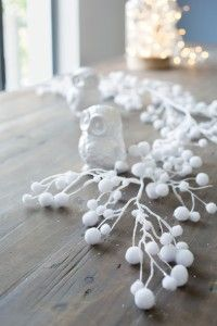 Guirlande de boules de neige