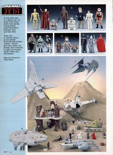 Vintage Star Wars Toys Catalog Page
