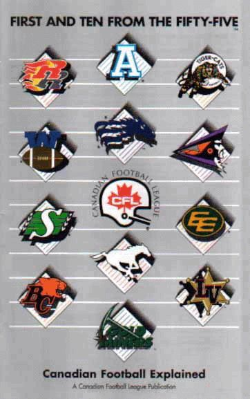 Canadian Football League 1990's with 13 teams (including American expansion).
