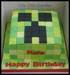 Creeper Minecraft Cake Minecraft creeper and steve